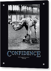 Dizzy Dean Confidence  Acrylic Print by Retro Images Archive