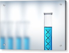 Dna Research Or Testing In A Laboratory Acrylic Print by Johan Swanepoel