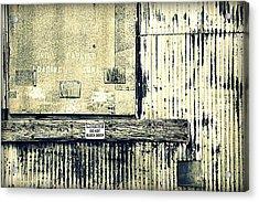 Do Not Block Door Acrylic Print by Valentino Visentini