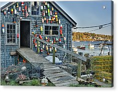 Dock House In Maine Acrylic Print by Jon Glaser