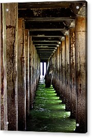Dock Of The Bay Acrylic Print by Bill Gallagher