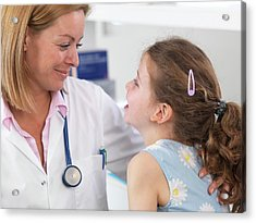 Doctor Caring For Patient Acrylic Print by Tek Image