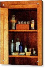 Doctor - Medicine Chest With Asthma Medication Acrylic Print by Susan Savad