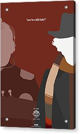 Doctor Who 50th Anniversary Poster Set Fourth Doctor Acrylic Print by Jeff Bell