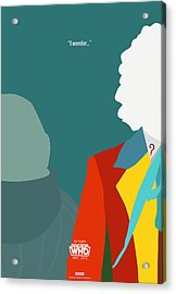 Doctor Who 50th Anniversary Poster Set Sixth Doctor Acrylic Print by Jeff Bell
