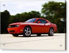 Dodge Challenger Acrylic Print by Bill Cannon