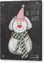 Dog Days  Acrylic Print by Linda Woods