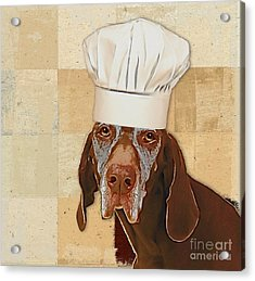Dog Personalities 56 Chef Acrylic Print by Variance Collections