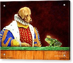 Dog Prince...frog Prince... Acrylic Print by Will Bullas