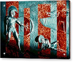 Dogs Of War At Troy Acrylic Print by Hartmut Jager