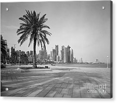 Doha Corniche April 2013 Acrylic Print by Paul Cowan