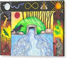 Dolmen Gateway Acrylic Print by Cat Athena Louise