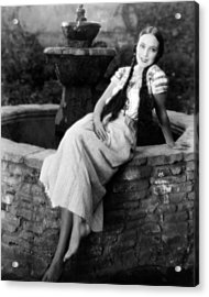 Dolores Del Rio Acrylic Print by Silver Screen