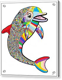 Dolphin - The Devil's In The Details Acrylic Print by Eloise Schneider