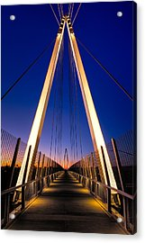 Don Burnett Pedestrian And Bicycle Bridge Acrylic Print by Alexis Birkill