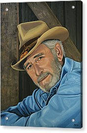 Don Williams Painting Acrylic Print by Paul Meijering