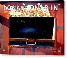 Donation Bin Acrylic Print by Ed Weidman