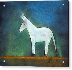 Donkey, 2011 Oil On Canvas Acrylic Print by Roya Salari
