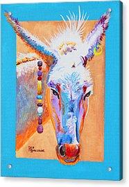 Jack's Other Girl - Burro - Donkey Acrylic Print by Deb  Harclerode