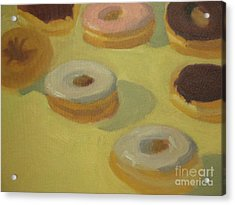 Donuts Acrylic Print by Sharon Hollander