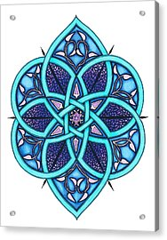 Doodle 8a Acrylic Print by Sherri Odegaarden