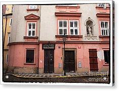 Door Choices In Prague Acrylic Print by John Rizzuto