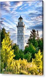 Door County Cana Island Beacon Acrylic Print by Christopher Arndt