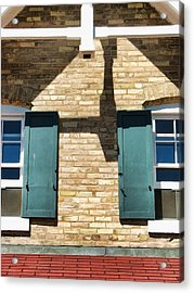 Door County Eagle Bluff Lighthouse Shutters Acrylic Print by Christopher Arndt