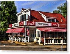 Door County Wilson's Ice Cream Store Acrylic Print by Christopher Arndt