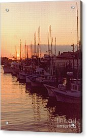 Door County Wisconsin Egg Harbor Sunset 1981 Acrylic Print by ImagesAsArt Photos And Graphics