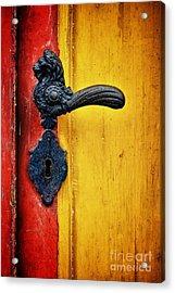 Door Handle Acrylic Print by Martin Dzurjanik