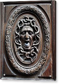 Door In Paris Medusa Acrylic Print by A Morddel