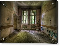 Door On To Chair Acrylic Print by Nathan Wright