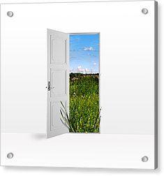 Door To Nature Acrylic Print by Aged Pixel