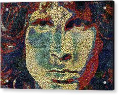 Doors Jim Morrison  Acrylic Print by Jack Zulli