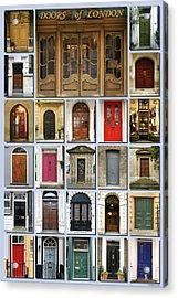 Doors Of London Acrylic Print by Heidi Hermes