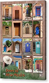 Doors Of New Mexico II Acrylic Print by Heidi Hermes