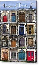 Doors Of Paris Acrylic Print by Heidi Hermes