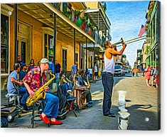 Doreen's Jazz New Orleans - Paint Acrylic Print by Steve Harrington