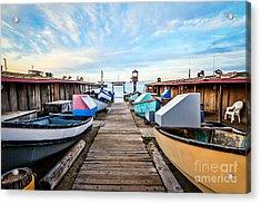 Dory Fishing Fleet Newport Beach California Acrylic Print by Paul Velgos