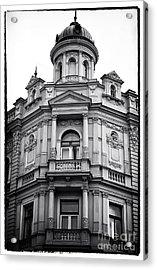 Double Balconies In Prague Acrylic Print by John Rizzuto