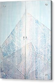 Double Doors To Peaceful Mountain Acrylic Print by Asha Carolyn Young