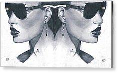 Double Face Acrylic Print by Bobby Dar