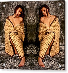 Double Figured 2012 Acrylic Print by James Warren