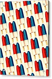 Double Popsicle Pattern Acrylic Print by Kelly Gilleran