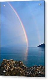 Double Rainbow Acrylic Print by Christos Andronis