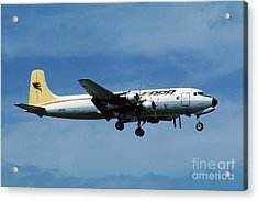 Douglas Dc-6bf  Landing  N95bl Apa Acrylic Print by Wernher Krutein