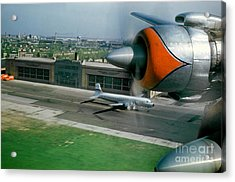 Douglas Dc-7 Taking Off Acrylic Print by Wernher Krutein