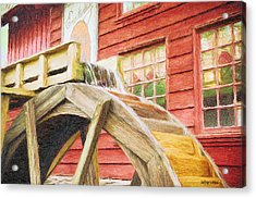 Down By The Old Mill Acrylic Print by Jeff Kolker