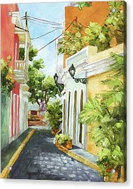 Down From El Convento Acrylic Print by Monica Linville